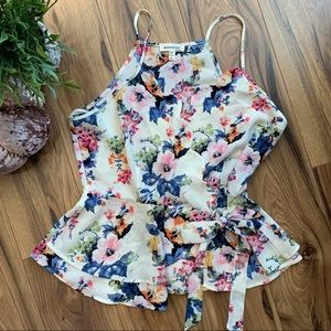 Tops - 🛍3for$25 Stunning Floral Wrap Tank